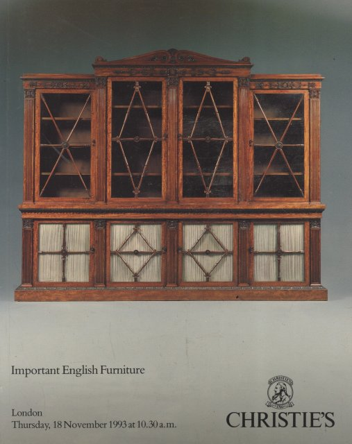 Christie 39 s important english furniture london 11 18 93 for Furniture auctions london