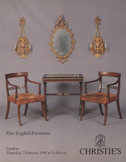 Christie 39 s fine english furniture london 2 7 91 sale 4455 for Furniture auctions london