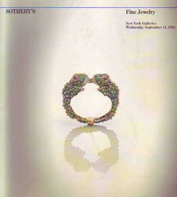 Sotheby's Fine Jewelry New York 9/14/83 Sale 5086