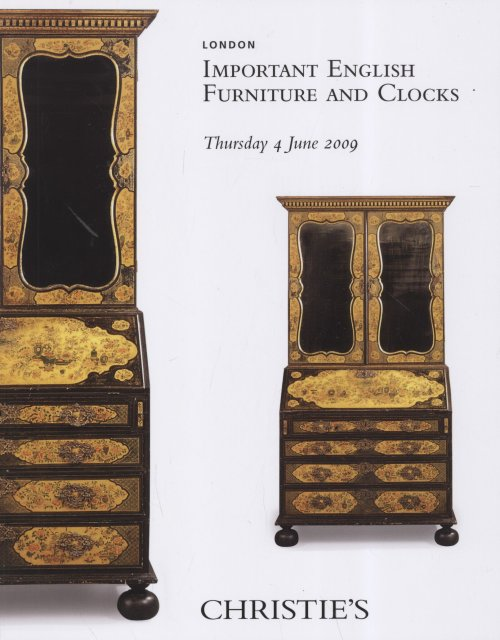 Christie 39 s important english furniture and clocks london 6 for Furniture auctions london