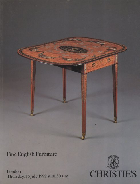 Christie 39 s fine english furniture london 7 16 92 sale 4808 for Furniture auctions london