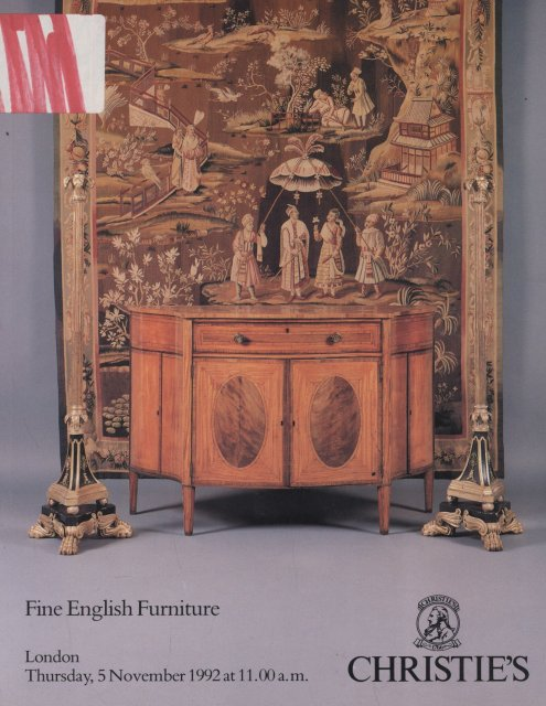 Christie 39 s fine english furniture london 11 5 92 sale 4863 for Furniture auctions london