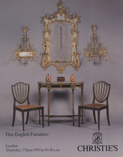 Christie 39 s fine english furniture london 6 17 93 sale 4993 for Furniture auctions london