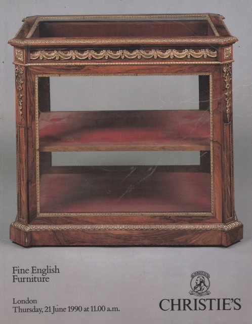 Christie 39 s fine english furniture london 6 21 90 sale 4322 for Furniture auctions london