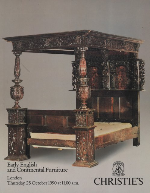 Christie 39 s early english and continental furniture london for Furniture auctions london