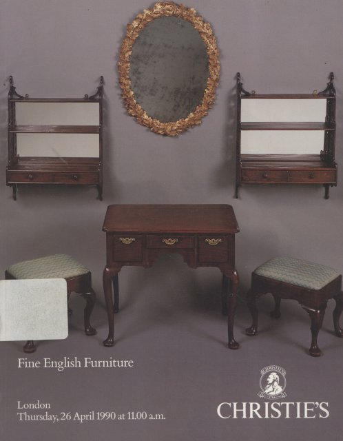 Christie 39 s fine english furniture london 4 26 90 sale 4283 for Furniture auctions london