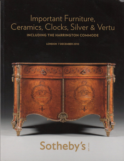 Sotheby 39 s important furniture ceramics clocks silver for Furniture auctions london