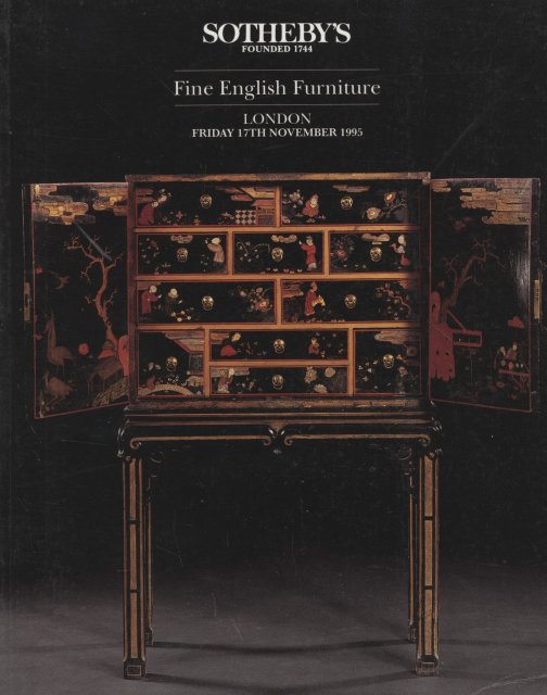 Sotheby 39 s fine english furniture london 11 17 95 auction for Furniture auctions london