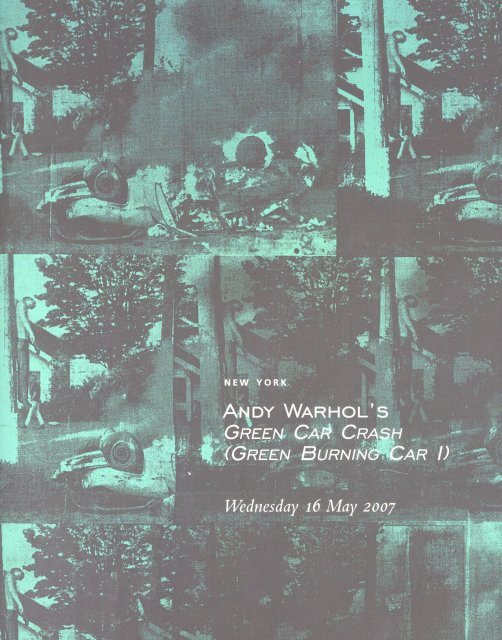 Christie S Andy Warhol Green Car Crash Burning I New York 5 16 07 1834b