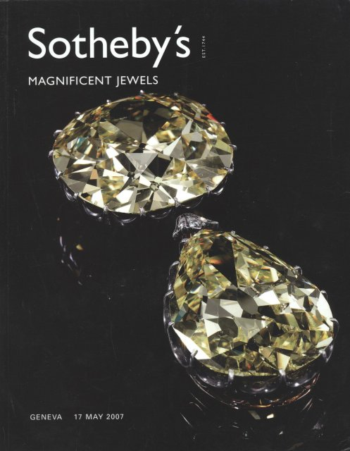 Sotheby's Magnificent Jewels Geneva 5/17/07 Sale 0703 ...
