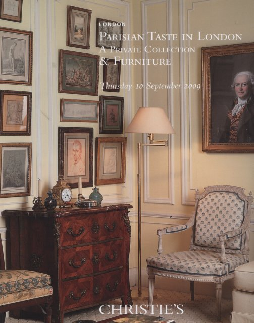 So christie 39 s parisian taste in london a private for Furniture auctions london
