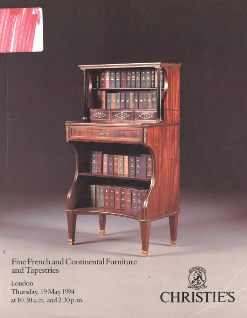 So aa christie 39 s fine french and continental furniture and for Furniture auctions london