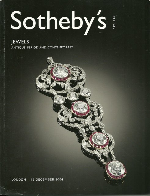 Sotheby's Jewels London 12/16/04 Sale 4055