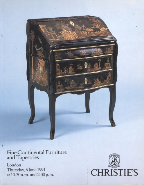 Christie s Fine Continental Furniture and Tapestries