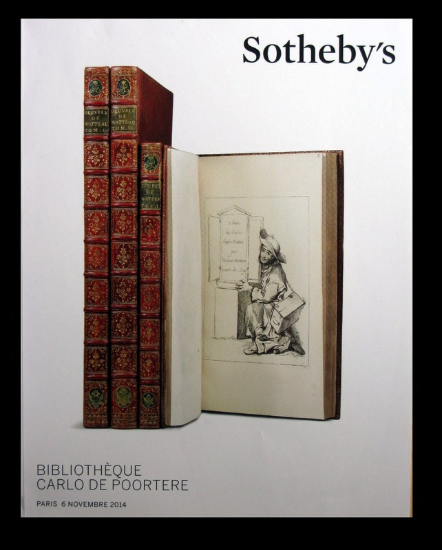 eb sotheby 39 s bibliotheque carlo de poortere paris 11 6 14. Black Bedroom Furniture Sets. Home Design Ideas