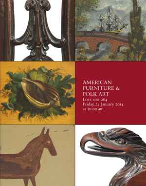 Eb christies important american furniture folk art for American furniture catalog 2015