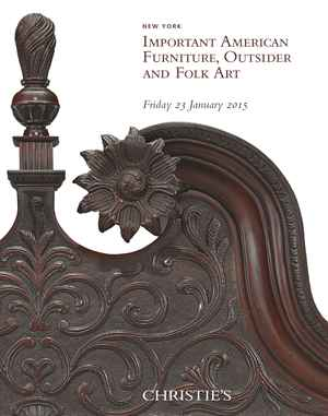 Christies important american furniture outsider and folk for American furniture catalog 2015