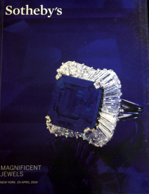 SOTHEBYS MAGNIFICENT JEWELS NEW YORK 4/29/14 SALE CODE NO ...