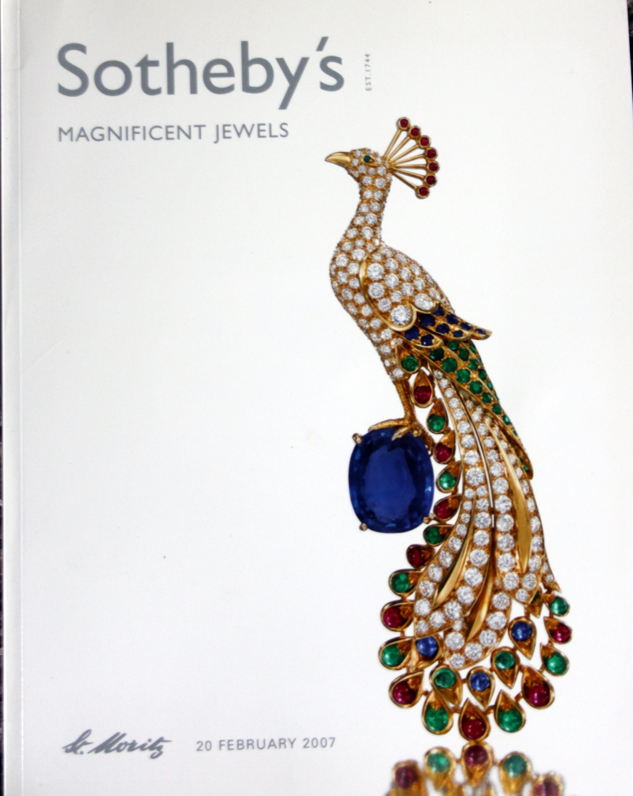 so Sotheby's MAGNIFICENT JEWELS St Moritz 2/20/97 Code ...