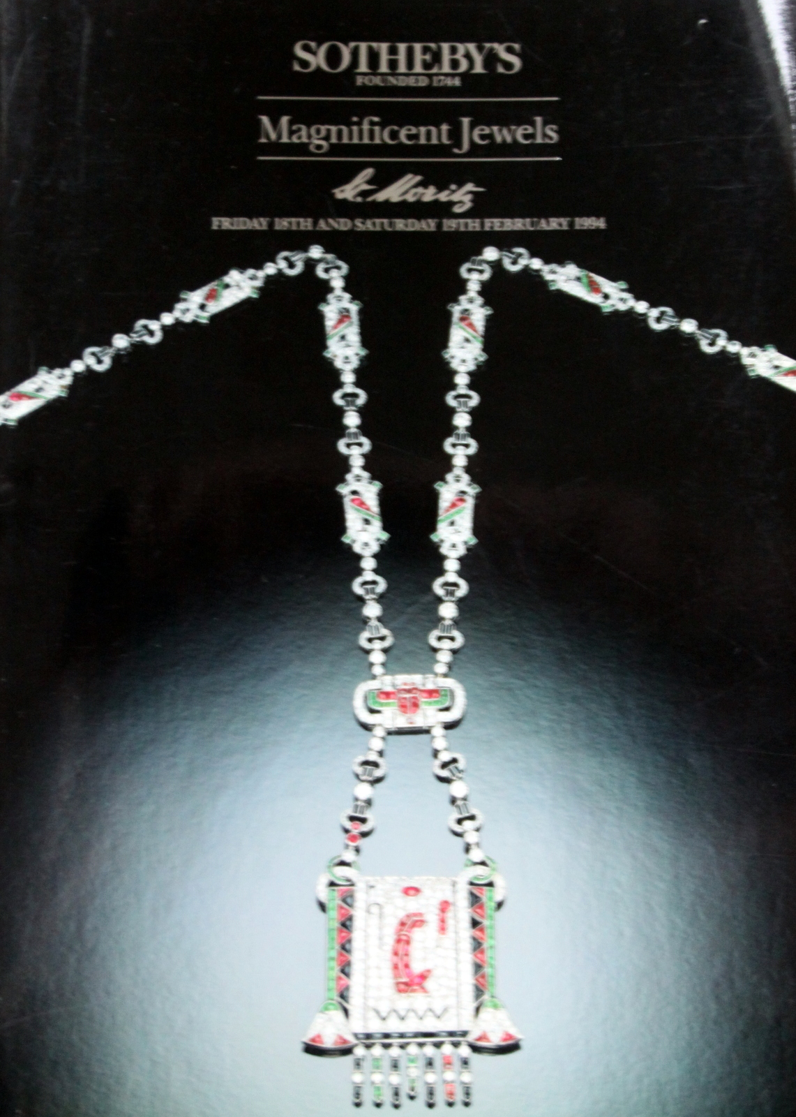 so Sotheby's MAGNIFICENT JEWELS St. Moritz 2/18-19/1994 ...