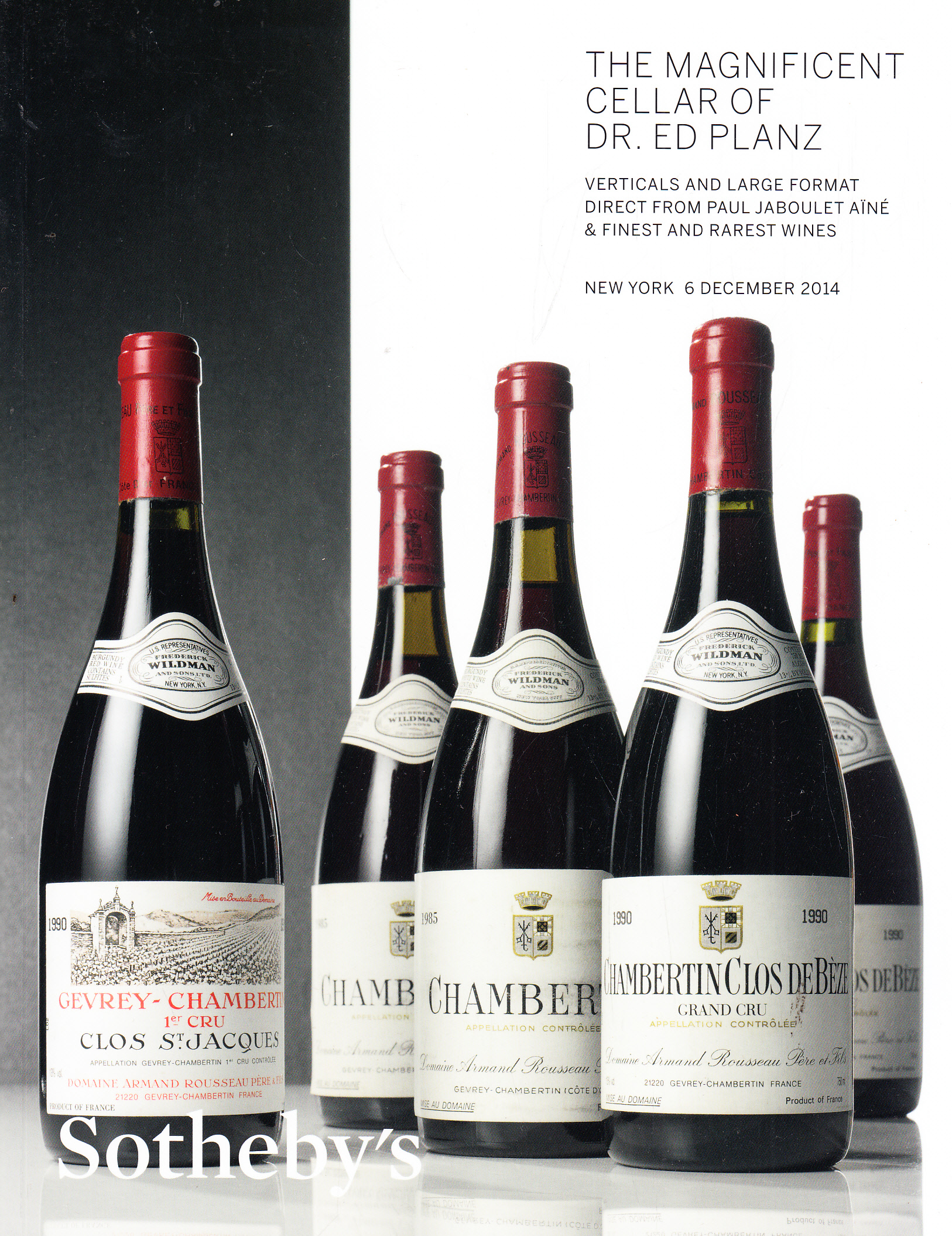 Sotheby's The Magnificent Cellar of Dr. Ed Planz ...