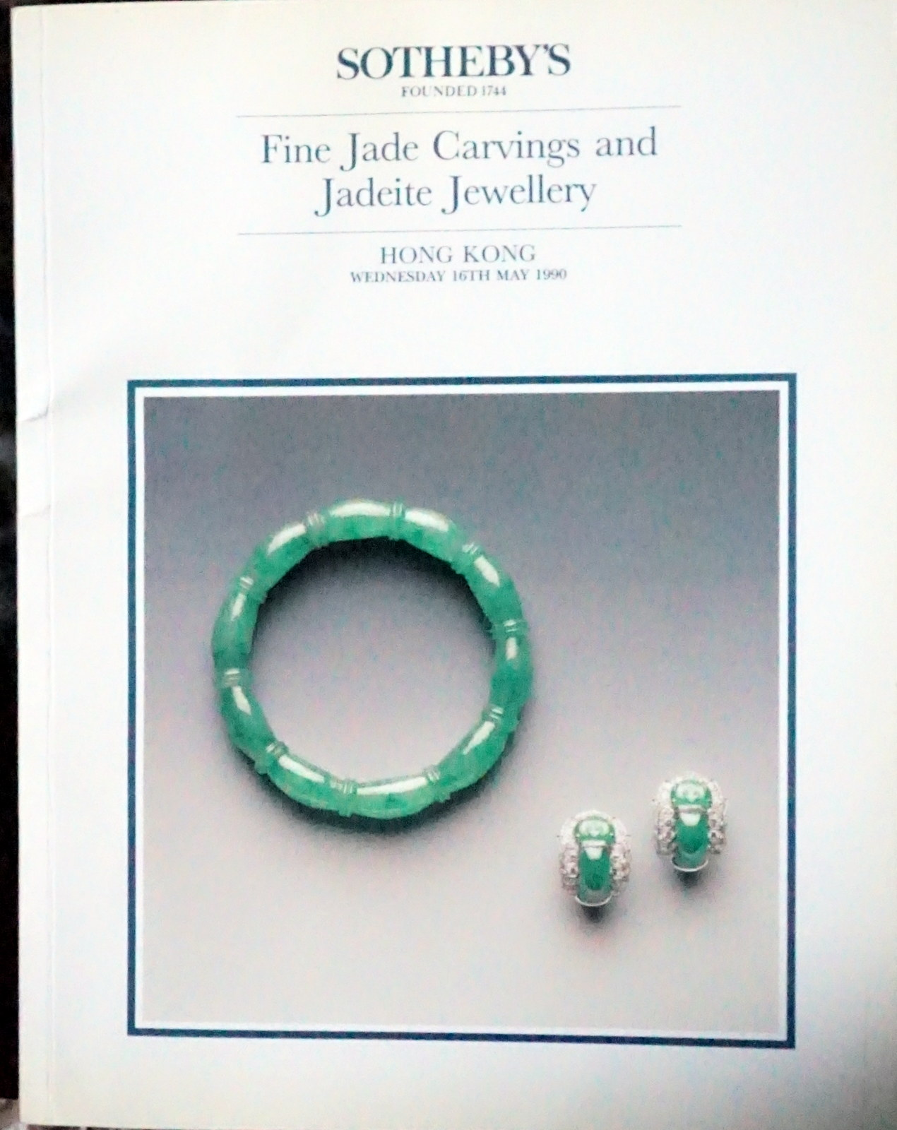 Ih Sotheby S Fine Jade Carvings And Jadeite Jewels Hong Kong 5 16 90 Sale Code Lianzi Auction Catalogs Home Of The Catalog Kid